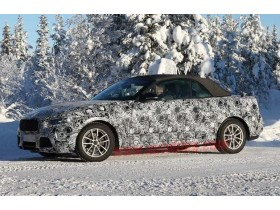 BMW 2 Series Convertible goes for a drive in the cold