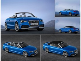 In Paris, he made his debut public Cabrio Audi RS 5