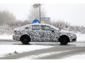 Audi A3 sedan caught during testing